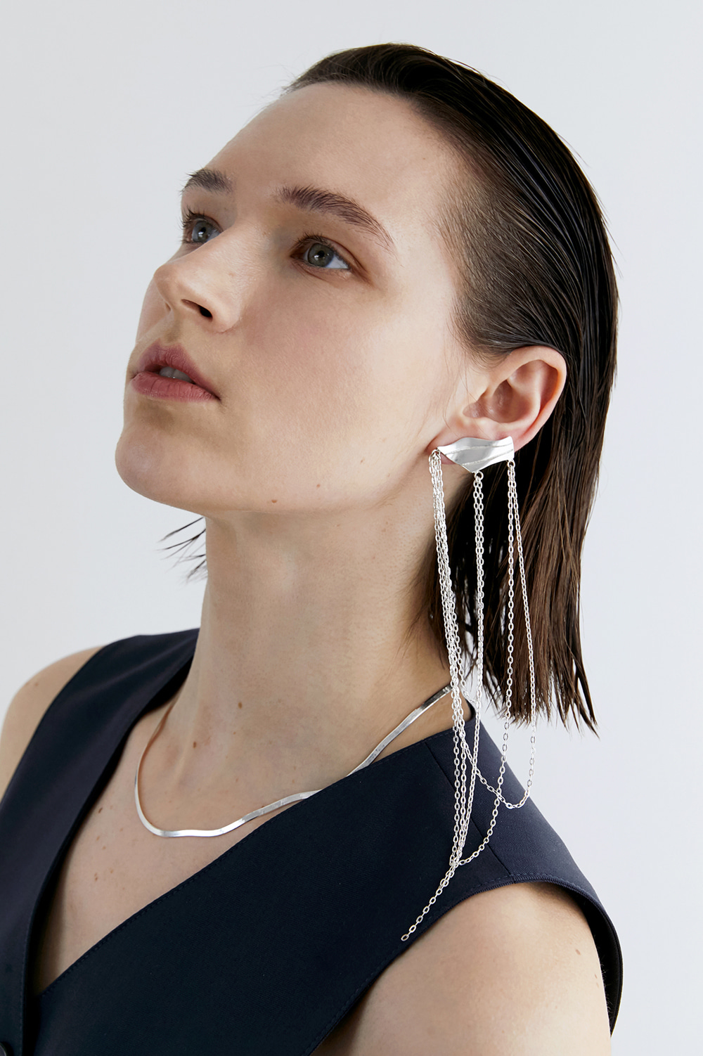 wavelength chain ear-cuff E